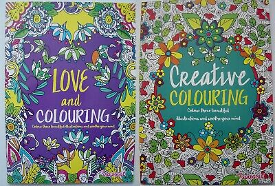 Adult Colouring Book Mind Relaxing stress relief therapy good quality, 14 books 4
