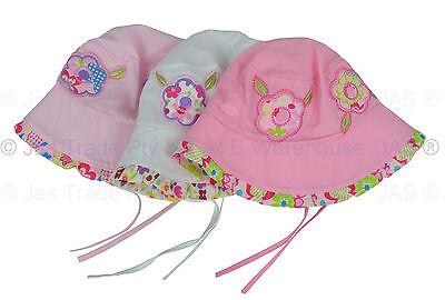 8bbe1572ddc49 ... Girl Kids Toddler Baby Cotton Floral Flower Bucket Sun Hat Adjustable Chin  Strap 2