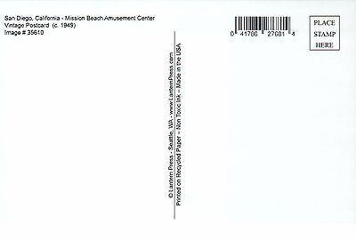 Mission Beach Amusement Center, San Diego California, Coaster -- Modern Postcard 2