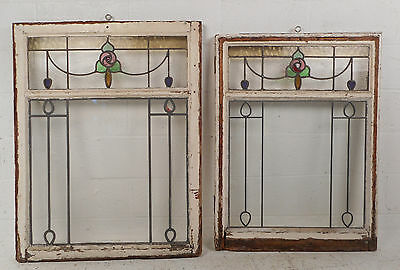 Vintage Stained Glass Window Panel (2920)NJ 2