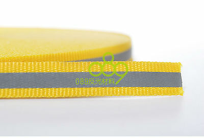 "Reflective Fabric Tape Strip Edging Braid Trim Sew On 0.4""x164 ft Yellow # GY 2"