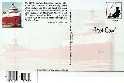 Edmund Fitzgerald 1958-1975, Great Lakes Freighter, Shipwreck --- Ship Postcard 2