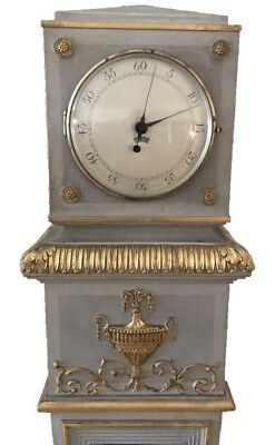Continental Painted Neoclassical Style Regulator Grandfather Longcase Clock 10