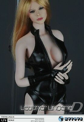 14536cef0d5 ... 1/6 Sexy Leather Lingerie Chaparajos Set For Phicen Hot Toys Female -  USA SELLER