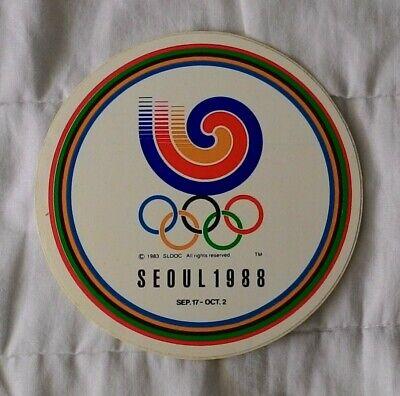 SEOUL 1988 OLYMPICS Logo Pin and Sticker lot 3