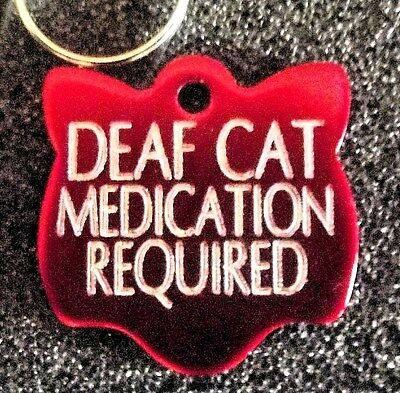 Small Coloured CAT FACE Pet Disc Collar Name Tag  Deeply Engraved & Posted Free