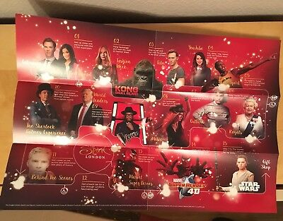 Madame Tussaud's London Fold Out Map & Promotional Flyer 2017 Kong Skull Island 3