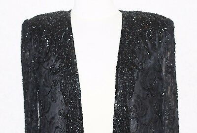 JASDEE Vintage Sheer Long Sleeve Jacket Hand Work Beading On Lace Style 141 3