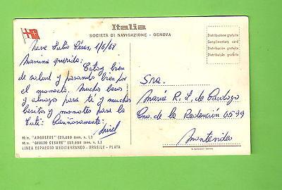 #c. 1968  Shipping   Postcard -  Augustus / Giulio Cesare