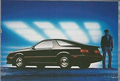 1985 DODGE DAYTONA TURBO Z advertisement, black Daytona, Dodge ad