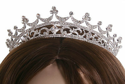 Crystal Headband Hair Accessory Bridal Wedding Pageant Prom Tiara Crown Silver