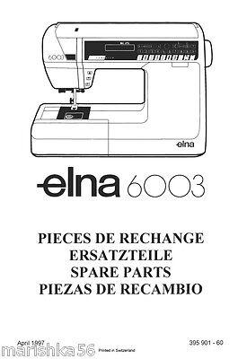 Printed elna transforma sewing machine repair manual (smm1112b).