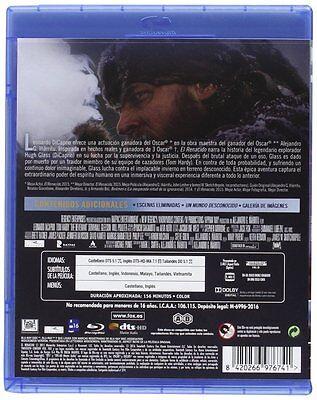 El Renacido Blu Ray The Revenant Leonardo Dicaprio Nuevo ( Sin Abrir ) Oscar 2