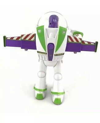 DISNEY Toy Story Buzz Lightyear Remote Control WALKING With Retractable Wings 4