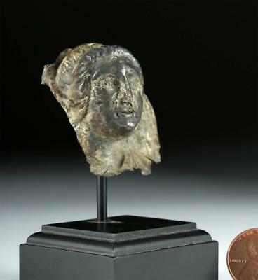Rare Greek Gilded Silver Head of a Goddess Lot 29A