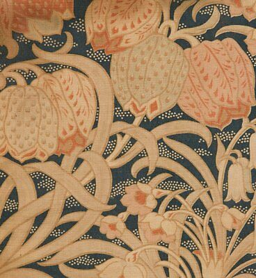 Antique English Fabric Sample Attr. William Morris C. 1890