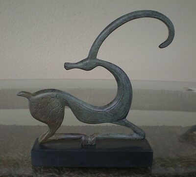 Graceful Ibex on Marble Base - Bronze Item - Ancient Art - Hand Made in Greece