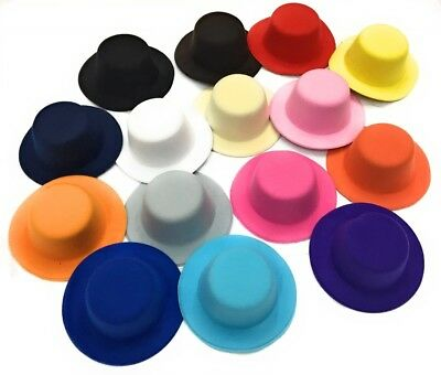 Set of 4 x Mini Round Top Hat Cap Fascinator Felt Hat Base Supplies Wholesale 3