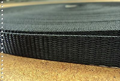 Northwest Contract Sewing® 1 Inch 50 Yards Black Heavy Nylon Webbing  ~ NW7163
