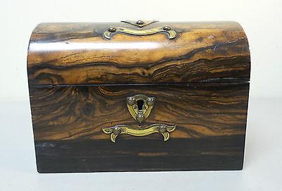 "19th C. ROSEWOOD ""ALMS"" COLLECTION BOX, BRASS TRIM & ORIGINAL KEY, c.1860-80 2"