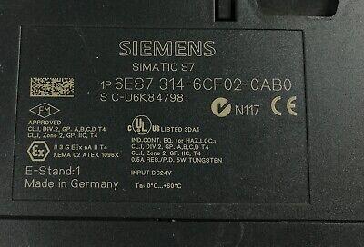 Siemens 6Es7 314-6Cf02-0Ab0 6Es7314-6Cf02-0Ab0 W/ 6Es7953-8Lf11-0Aa0 4