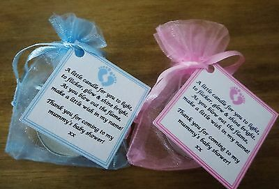 4 Of 12 1 60 Baby Shower Candle Favors / Favours With Vanilla Scented  Candles Tealights