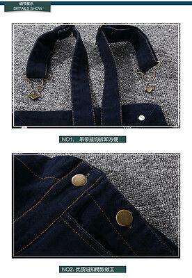 kid Denim overalls 2PC Long sleeve Plain Shirt+Overalls Jeans Girls Size 3-16YRS 5