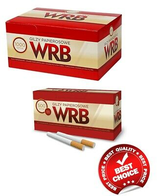 1000 + 500 Free!!! Empty Cigarette Filter Tubes Wrb Make Your Own 2