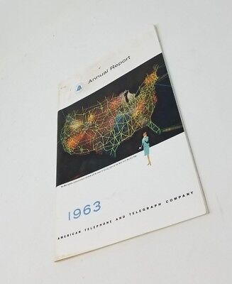 Vintage AT&T ANNUAL REPORT 1963 American Telephone And Telegraph Co Bell System 2
