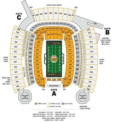 (2) Steelers vs Broncos Tickets 25 Yard Lower Level Close to the Aisle!! 2