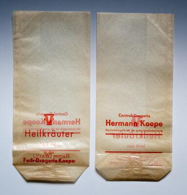 Konvolut 50 x Tüten aus Drogerie in HAMM wohl um 1955 2