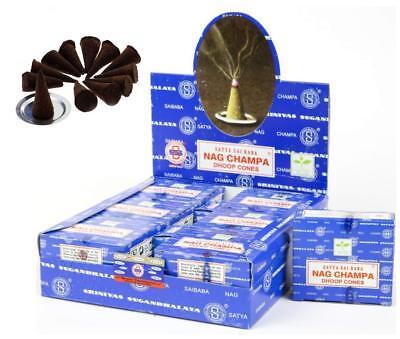 Encens Satya Nag Champa en cônes - 1 boite de 12 cônes 2