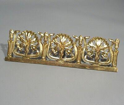 Antique French Art Nouveau Gilded Bronze Furniture Decoration, Carnations 4