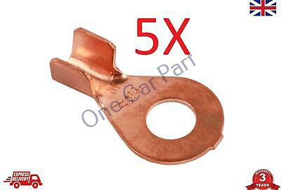 5X 6-10 mm2 10-8 AWG Open Cable Ring Battery Copper Lugs Terminal Connector 2