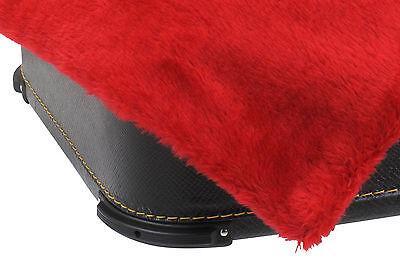 96-Bass Akkordeon Koffer Holz Case Hülle Tasche Kunstleder Bezug Rot gepolstert