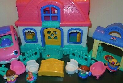Fisher Price Little People Sweet Sound Dollhouse Cradle Family House Home Lot 11