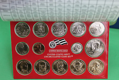 2008 P and D United States Mint ANNUAL Uncirculated Coin Set 28 BU Coins and COA 7