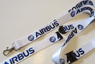 AIRBUS company WHITE keychain neckstrap Lanyard