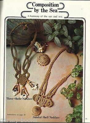 Vintage Beaded Macrame Necklace Patterns 1970s #7118 Symphony of Strings
