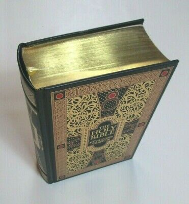 NEW KJV Holy Bible King James Version Illustrated By Gustave Dore Leather Bound 3