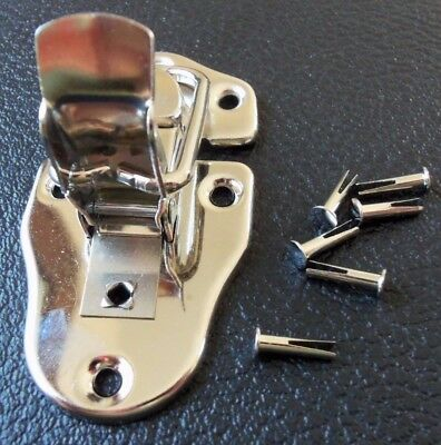 Guitar Case NICKEL Replacement Hinge Larger size Fender Gibson WITH RIVETS NEW!