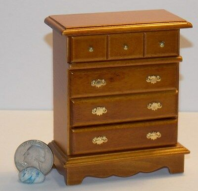 Dollhouse Miniature Q A Highboy Walnut Chest 1:12 inch scale H106 Dollys Gallery