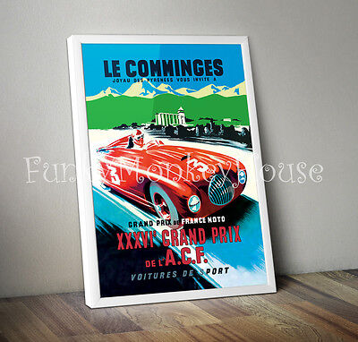Large Vintage Retro Classic Car watercolour Quality art poster Print 610x900 mm
