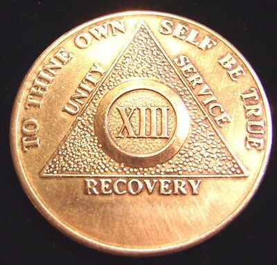 Alcoholics Anonymous 13 Year Symbol Aa Bronze Medallion Chip Coin