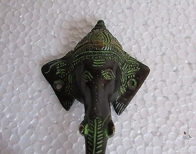 Vintage Style God Ganesha Handcrafted Brass Pull Door Cabinet Drawer Handle 2
