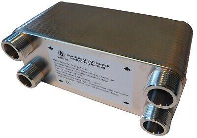 SCAMBIATORE di calore a Piastre NORDIC TEC 1' DN25 INOX 100-175kW + ISOLAMENTO 2