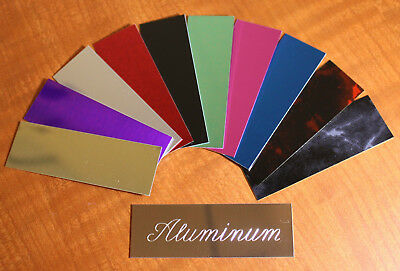 """Custom Engraved Nameplate Display Case, Shadow Box, Picture Frame 1""""x3"""" Aluminum 3"""
