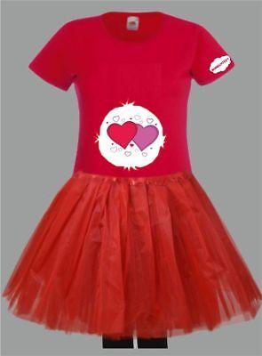 Kostüm für Glücksbärchi Fans Damen T-Shirt Tütü/Rock Gruppenkostüm Karneval JGA 10