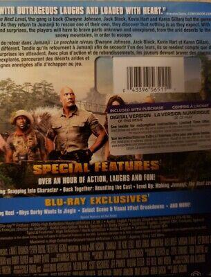 Jumanji 3 The Next Level Blu-Ray & DVD w Slipcover Canada Bilingual NO DC LOOK 2