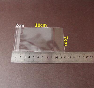 200 Adhesive Self Seal Resealable Clear Plastic Cellophane Bag 7x10cm+2cm Sydney 2